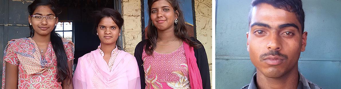 Rohini, Pooja, Nisha and Raghunath (FIDA Scholars 2016-17)
